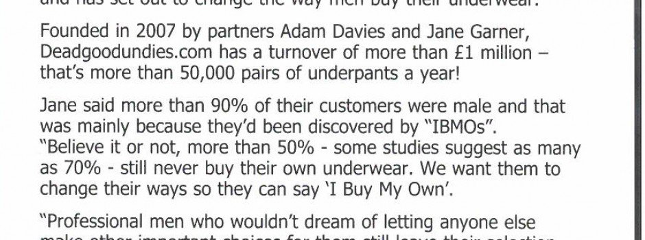 Clipping from article about the IBMO campaign