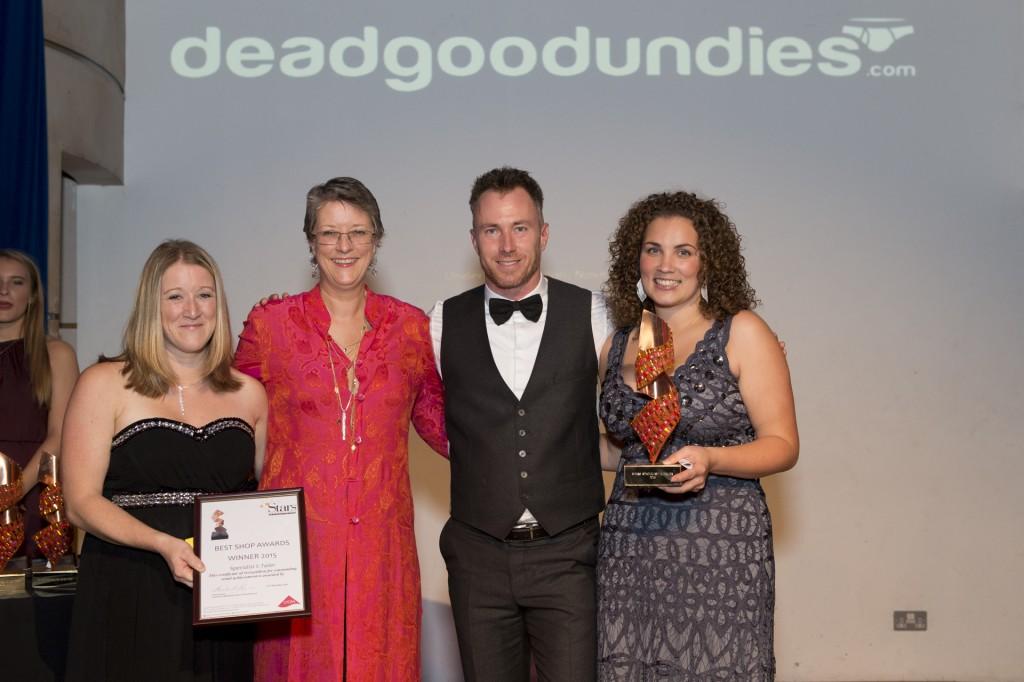 Undies expert Jane Garner with winners Mish Lingerie at the Stars Award ceremony